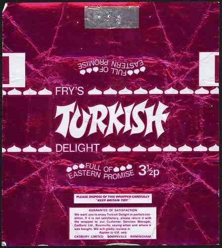 Cadbury Turkish Delight Chocolate Bar