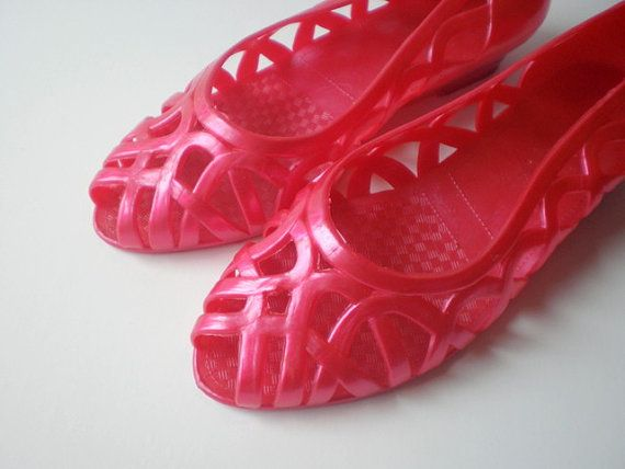 jelly shoes 80s