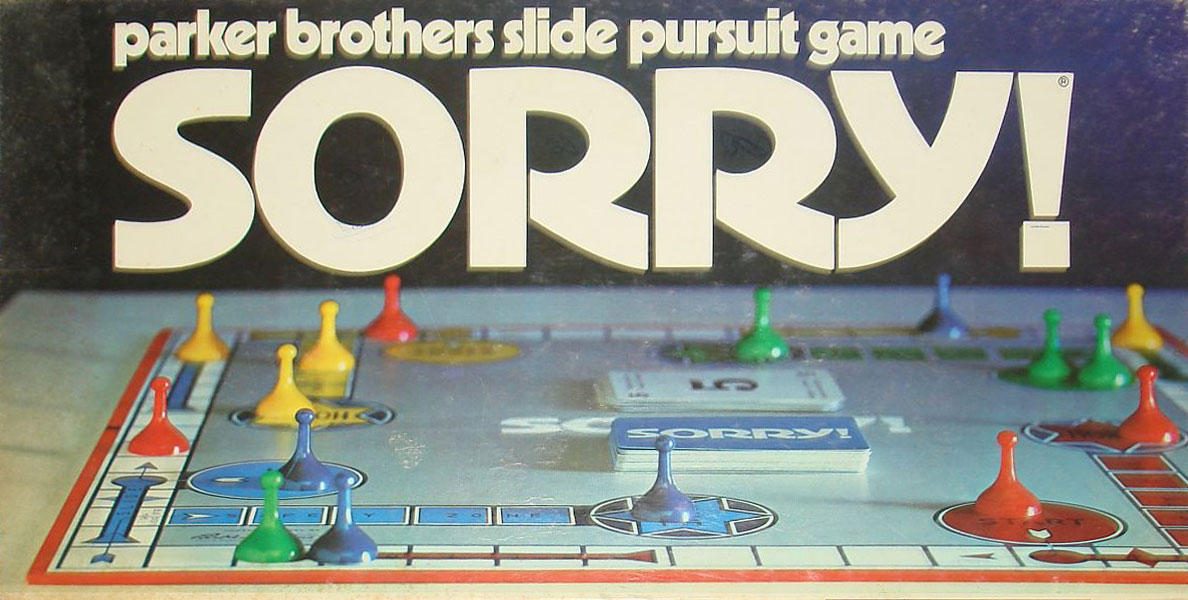Sorry Board Game Do You Remember