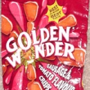 Sausage and tomato flavour crisps (Golden Wonder)